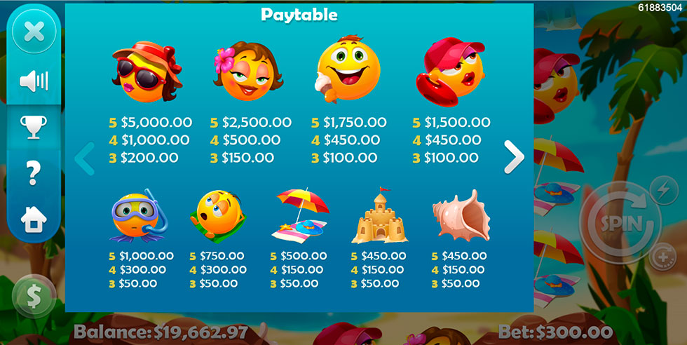 Summer Smileys Slot - Play the Free Casino Game Online